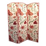 Image of Floral Scalamandre Room Divider For Sale