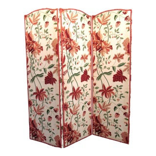 Floral Scalamandre Room Divider For Sale