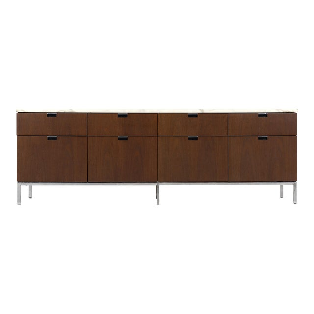 Florence Knoll Marble Top Credenza For Sale
