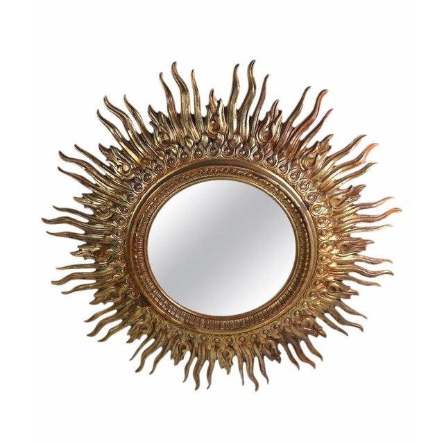1970s Hollywood Regency Sunburst Wall Mirror For Sale - Image 4 of 5