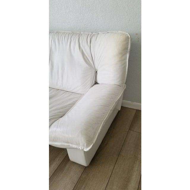 Nicoletti Salotti Postmodern Italian Leather Sofa , Circa 1980's . For Sale - Image 12 of 13