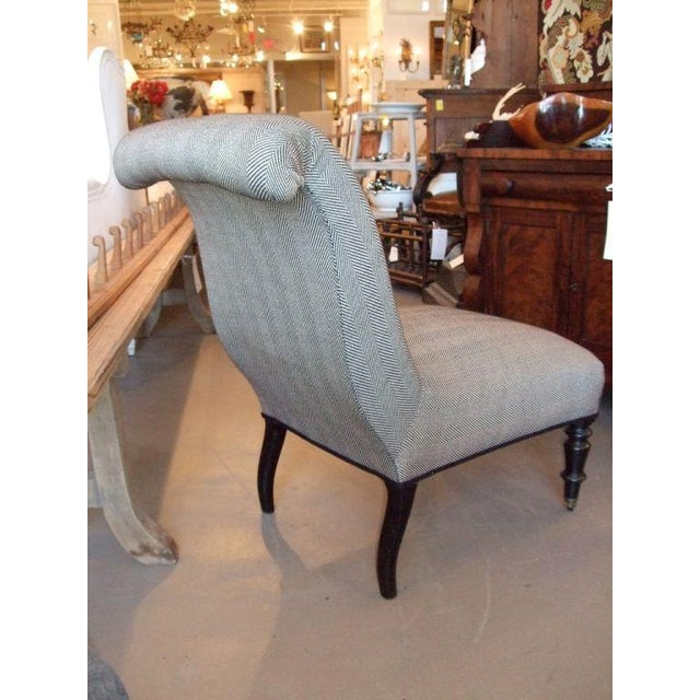 19th Century Napoleon III Slipper Chair For Sale - Image 4 of 10