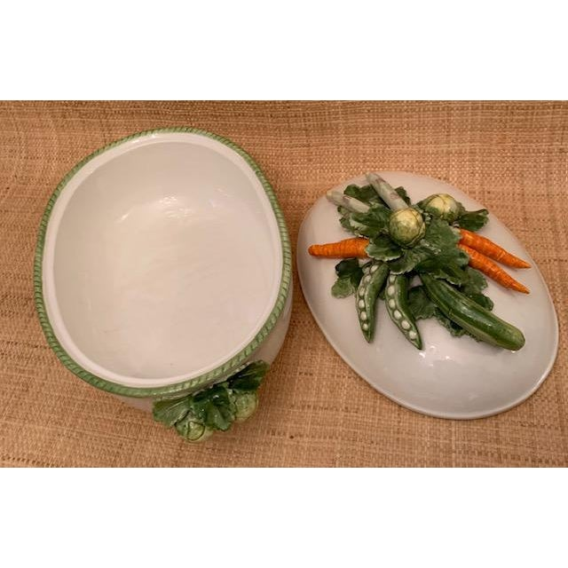 1970s Trompe l'Oeil Covered Vegetable Dish For Sale - Image 4 of 8