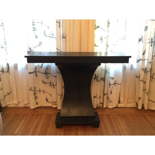 Contemporary Stained Wood Console For Sale - Image 3 of 6