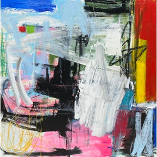 """""""Nitty Gritty"""" Contemporary Abstract Expressionist Mixed-Media Painting by Sarah Trundle For Sale"""