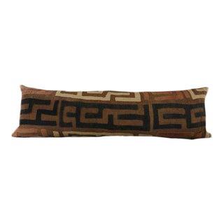 Contemporary African Kuba Cloth Body Lumbar Pillow For Sale