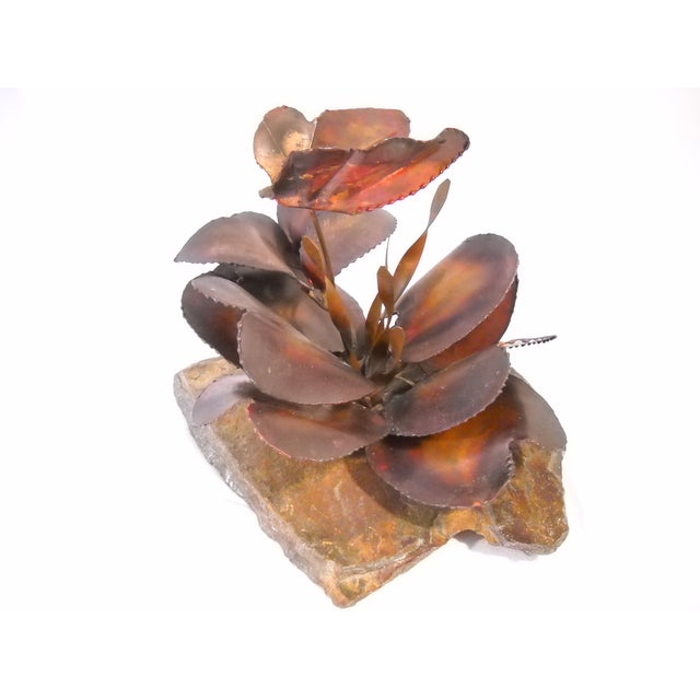 Copper and Slate Butterfly Sculpture - Image 7 of 8