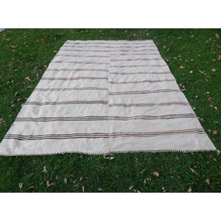 Palace Sized Anatolian Hemp Kilim Rug Hand-Woven Natural Rug - 9′ × 12′8″ Preview