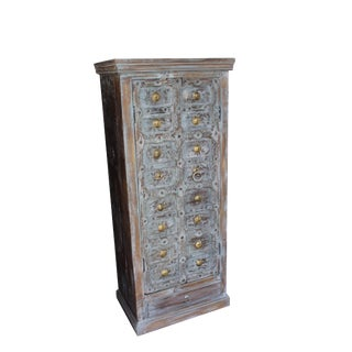 1920s Art Nouveau Teak Cabinet Storage For Sale