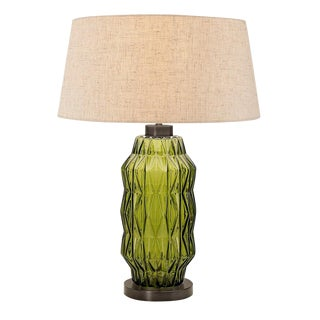 Laguna Column Table Lamp in Olive Colour For Sale