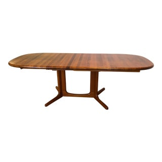 Solid Teak Danish Expandable Dining Table by Glostrup Mobelfabrik For Sale