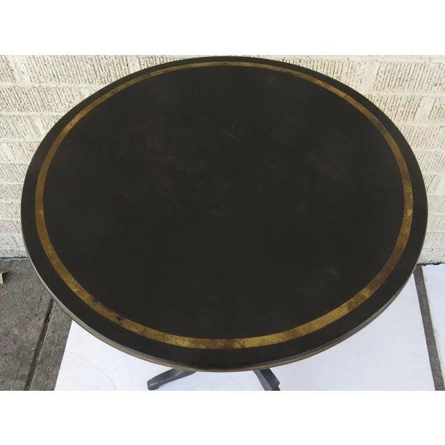 English English Painted Gilt Tilt Top Table C 1860 Side Table For Sale - Image 3 of 7