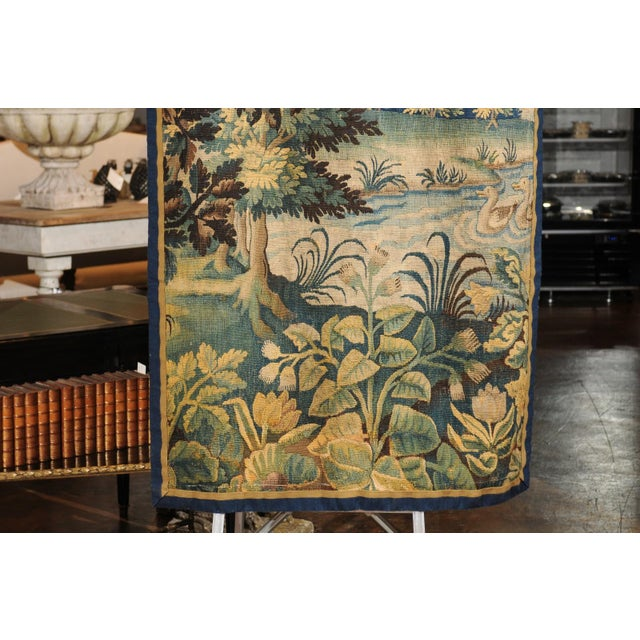 Pair of 19th Century French Handmade Vertical Tapestries with Pastoral Scenes For Sale - Image 11 of 12