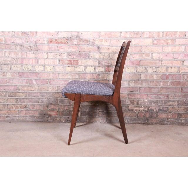 John Van Koert Mid-Century Modern Restored Walnut Dining Chairs, Set of Ten For Sale - Image 9 of 13