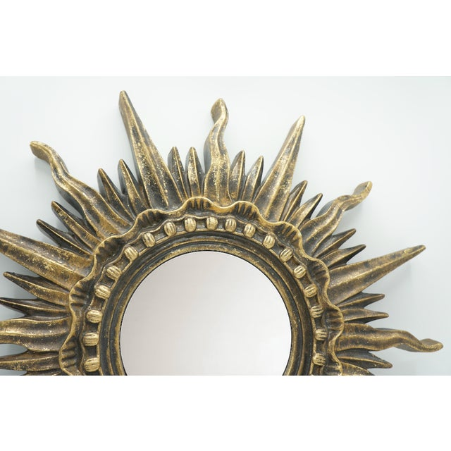Gold French Golden Gilt Sunburst Mirror For Sale - Image 8 of 12