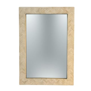 Modern West Elm Parsons Wall Mirror For Sale
