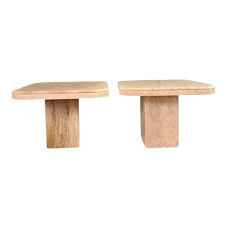 Vintage Italian Marble Tables - a Pair For Sale