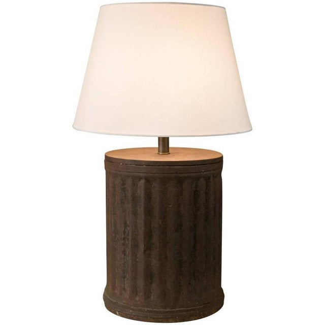 Rustic Industrial Brown Metal Table Lamp - Image 5 of 5