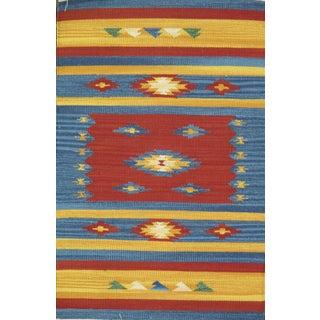Pasargad Indian Anatolian Kilim Area Rug- 5' X 8' For Sale