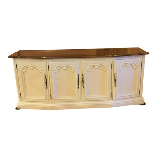 1970s Traditional Drexel Cream Credenza For Sale