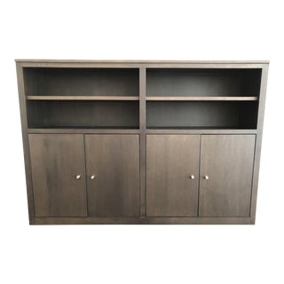 Contemporary Room and Board Woodwind Shelving Unit For Sale