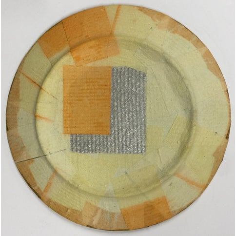 """Art Deco Carl M. George """"Geo 6"""" Collage Plate For Sale - Image 3 of 3"""