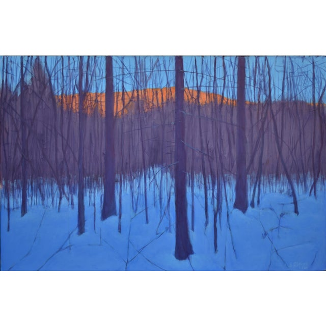 """Stephen Remick """"Nightfall in Deer Hollow"""" Contemporary Expressionist Landscape Painting For Sale"""