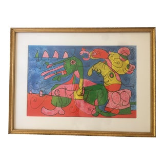 Joan Miro Offset Lithograph on Paper For Sale