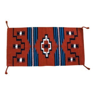 Navajo Style Hand Woven Wool Rug -1′8″ × 3′4″ For Sale