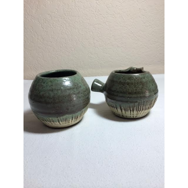 Mid-Century Pottery Art Sugar & Creamer Set - Image 3 of 6