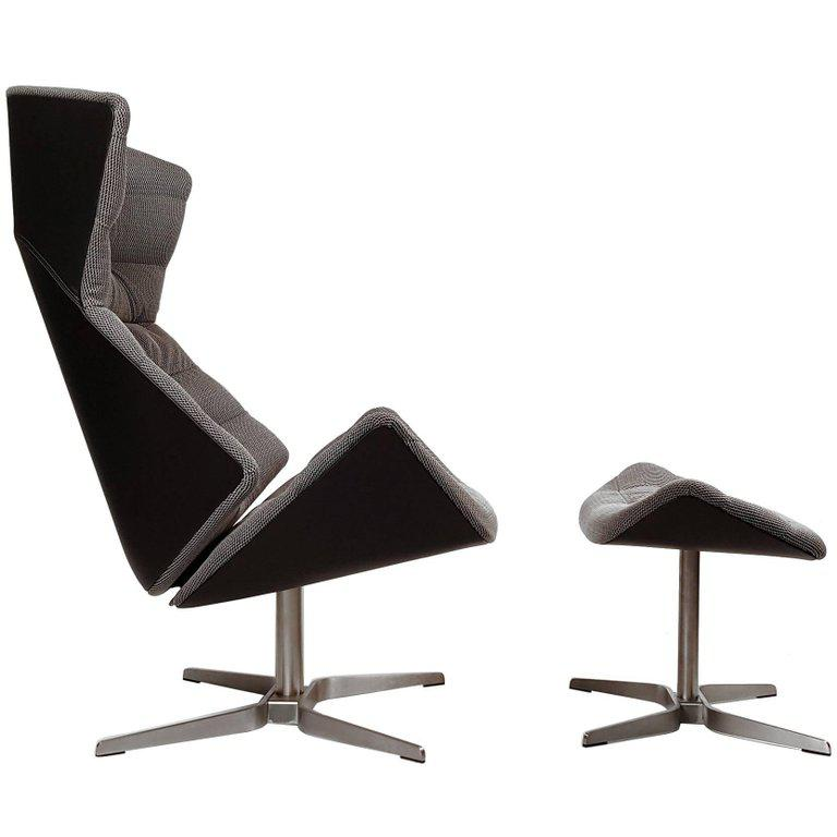 Gebruder Thonet Tilt And Swivel Lounge Chair And Ottoman   Image 11 Of 11