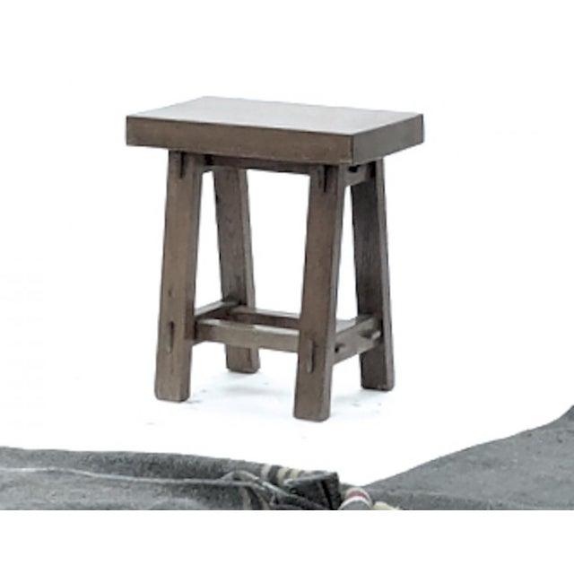 Pierre Jeanneret Style of Pierre Jeanneret Set of 4 Organic Oak Stools For Sale - Image 4 of 5