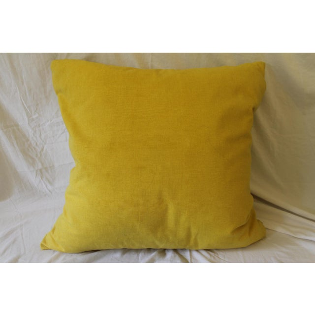 Feather Yellow and White Pillows- A Pair For Sale - Image 7 of 9