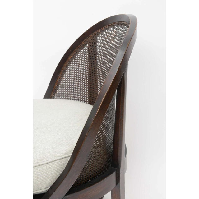 Distinctive Mahogany Cane Back Chair For Sale - Image 4 of 10