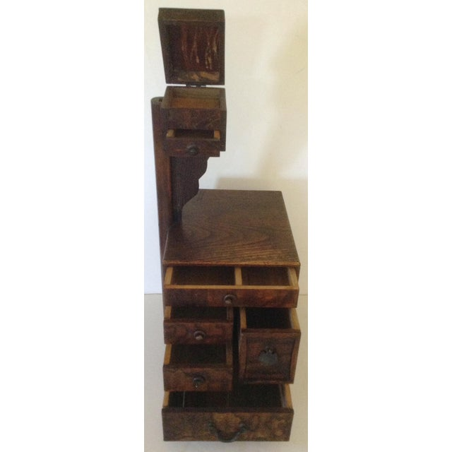 Asian Antique Japanese Sewing Box For Sale - Image 3 of 3