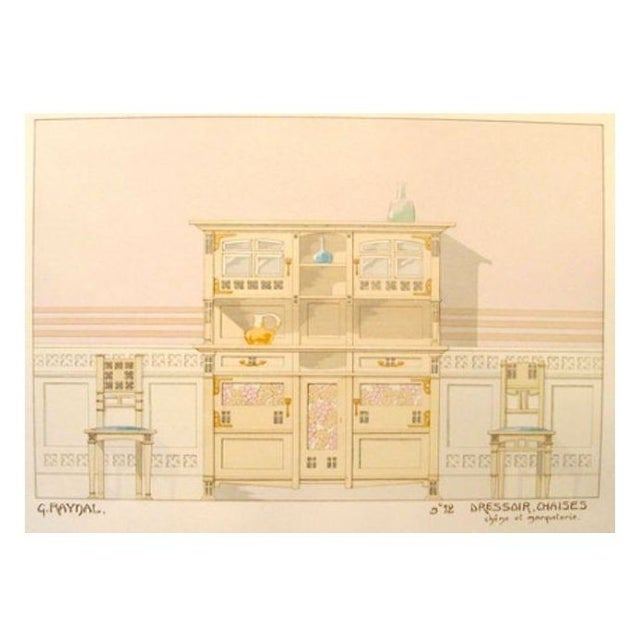Vintage French Decorator Sheet Interior/Dresser For Sale