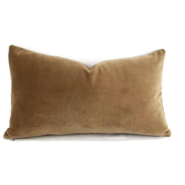 Brown Velvet Lumbar Pillow Cover For Sale In Portland, OR - Image 6 of 6