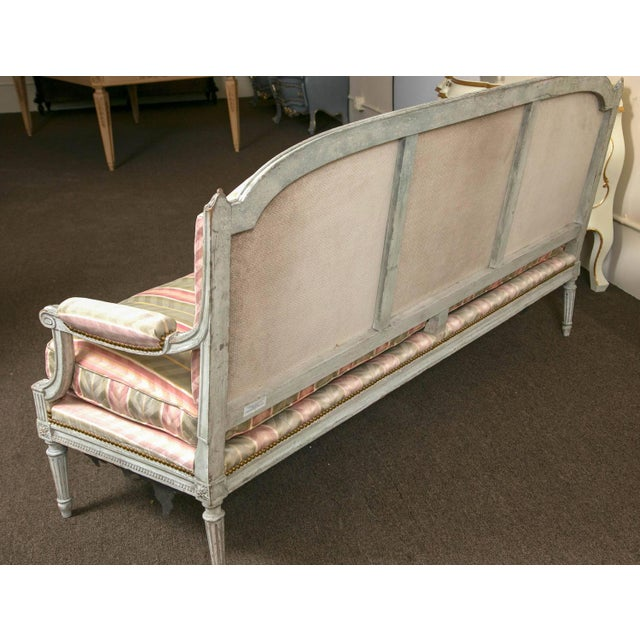 Distressed Paint Louis XVI Style Settee by Jansen - Image 8 of 10