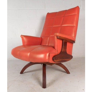 Vintage Modern Heywood Wakefield Style Lounge Chair and Ottoman Preview