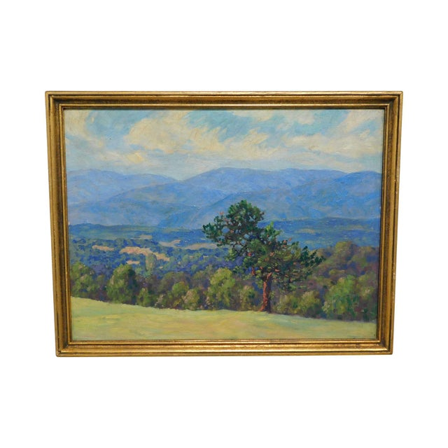 """Edward Walker Oil Painting on Canvas """"Mt. Moosalamoo, Green Mountains North of Brandon"""" For Sale - Image 13 of 13"""