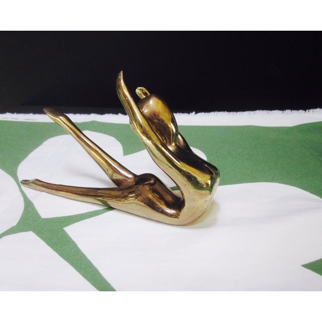 Brass Nude Art Deco Lady Paperweight - Image 9 of 10