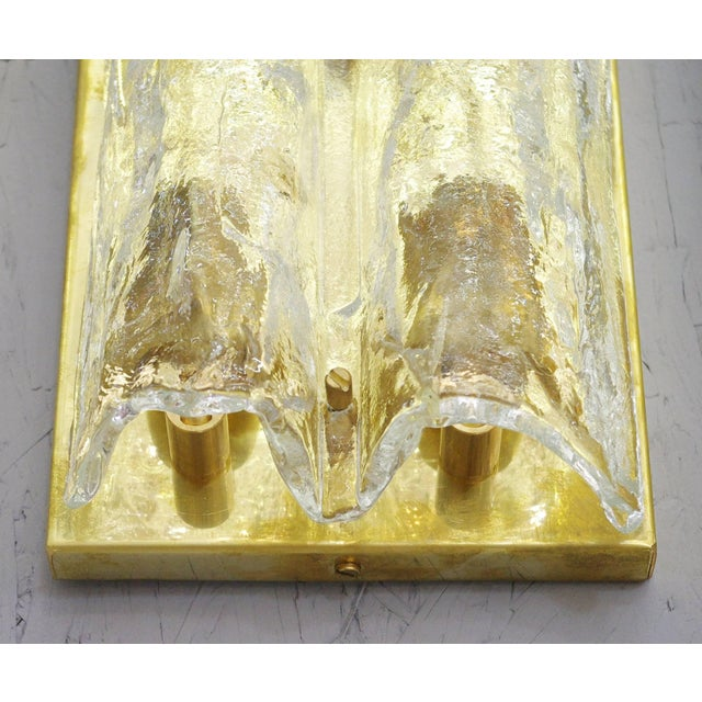Pair of Textured Sconces by Mazzega For Sale In Palm Springs - Image 6 of 10