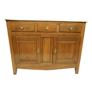 Narrow French Provincial Walnut Buffet For Sale