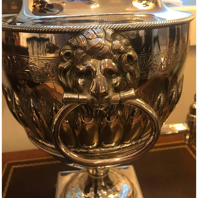 Metal 19th Century English Silver Plate Tea Urn For Sale - Image 7 of 11