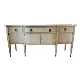 White Baker Furniture Credenza For Sale