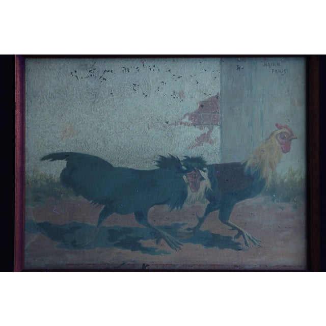 Set of Four William Baird Barbizon Paintings of Cocks Fighting For Sale - Image 9 of 10
