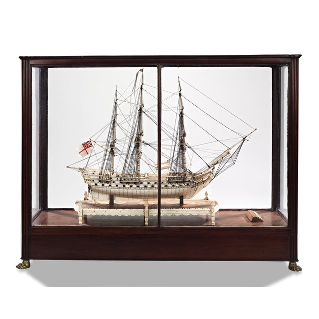 Early 19th Century French Prisoner of War Ship Model, Le Héros For Sale - Image 5 of 6