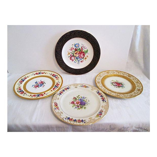 European Gilded Dinner Plates - Set of 4 - Image 2 of 8