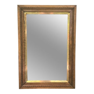 Antique Wood Frame and Gilt Mirror For Sale
