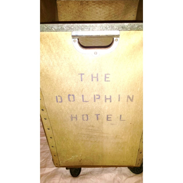 Dolphin Hotel 1960 Industrial Laundry Cart - Image 10 of 10